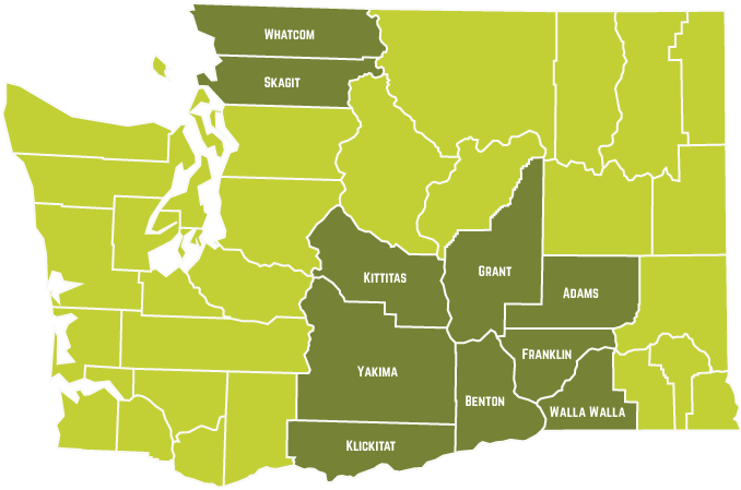 WA county map