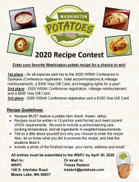 2020 WSNA Recipe Contest..Starts Now!
