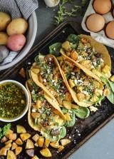 Chimichurri Potato Breakfast Tacos