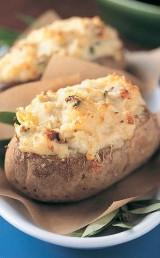 Artichoke Crab Stuffed Potatoes