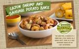 Cajun Shrimp and Sausage Potato Bake