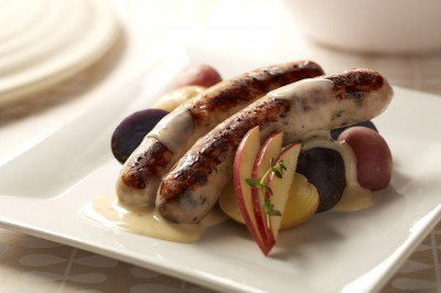Chicken Sausage with Rosemary Butter Potatoes