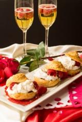 Chocolate - Raspberry Cream Puffs