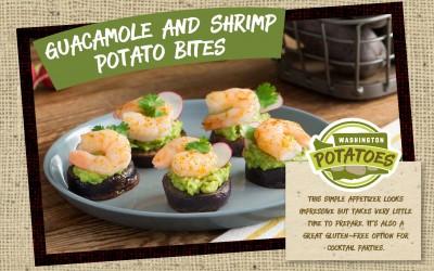 Guacamole and Shrimp Potato Bites
