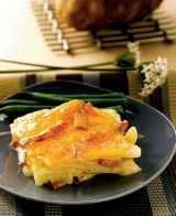 Sweet Onion, Ham, and Cheddar Scalloped Potatoes