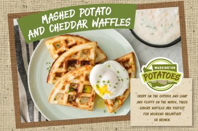 Mashed Potato and Cheddar Waffles