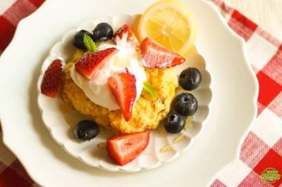 Potato Corn cakes w/ Summer Berries