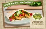 Potato Falafel Pita Sandwich