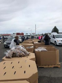 ROAD TO 1 MILLION POUNDS OF POTATOES REACHED - OLYMPIA
