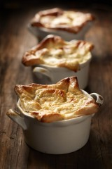 Root Vegetable Pot Pie with Potato Rosemary Crust & And Goat Cheese B??chamel