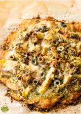 Spinach Pesto Potato Crust Pizza