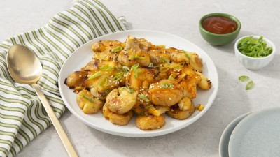 Sweet and Spicy Smashed Potatoes