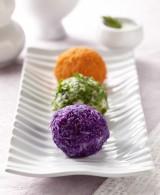 Turkish Mashed Potato Balls with Yogurt Sauce