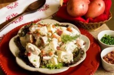 Creamy Bacon Ranch Potato Salad