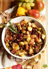 Roasted Red Potatoes with Bacon & Brussels Sprouts
